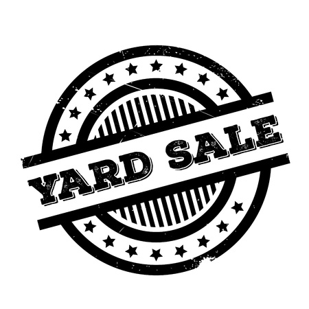 uprzejmości: Yard Sale rubber stamp. Grunge design with dust scratches. Effects can be easily removed for a clean, crisp look. Color is easily changed.