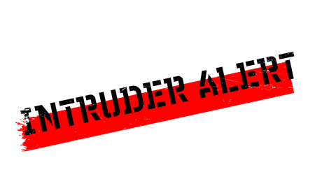 be alert: Intruder Alert rubber stamp. Grunge design with dust scratches. Effects can be easily removed for a clean, crisp look. Color is easily changed.