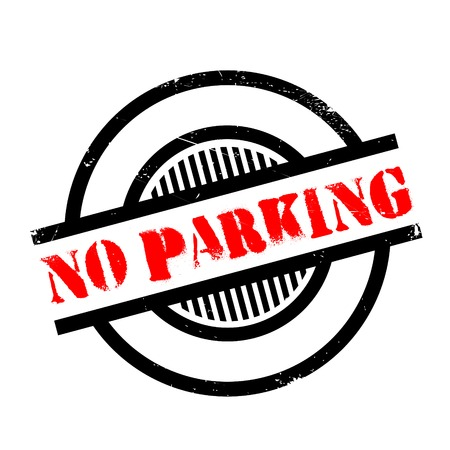 admittance: No Parking rubber stamp. Grunge design with dust scratches. Effects can be easily removed for a clean, crisp look. Color is easily changed. Illustration