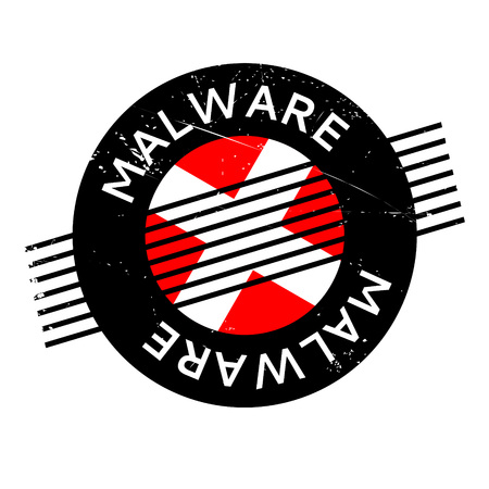 malware: Malware rubber stamp. Grunge design with dust scratches. Effects can be easily removed for a clean, crisp look. Color is easily changed. Illustration