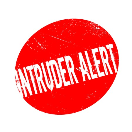 trespasser: Intruder Alert rubber stamp. Grunge design with dust scratches. Effects can be easily removed for a clean, crisp look. Color is easily changed.