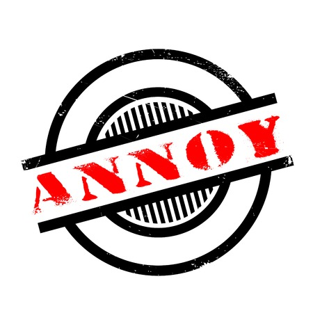 Annoy rubber stamp. Grunge design with dust scratches. Effects can be easily removed for a clean, crisp look. Color is easily changed. Ilustração