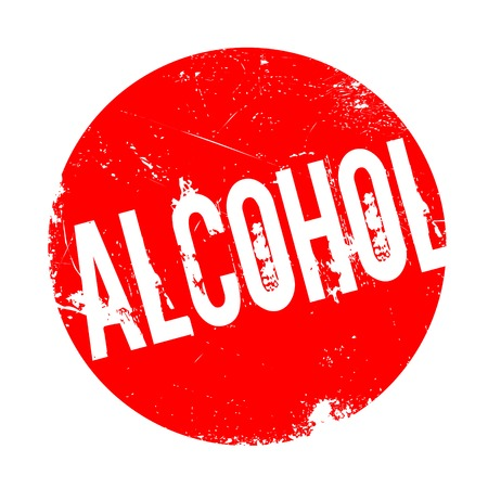 Alcohol rubber stamp. Grunge design with dust scratches. Effects can be easily removed for a clean, crisp look. Color is easily changed.