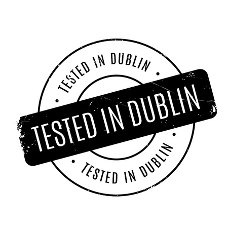 leinster: Tested In Dublin rubber stamp. Grunge design with dust scratches. Effects can be easily removed for a clean, crisp look. Color is easily changed. Illustration
