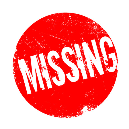 kidnapped: Missing rubber stamp. Grunge design with dust scratches. Effects can be easily removed for a clean, crisp look. Color is easily changed. Illustration