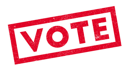 Vote rubber stamp. Grunge design with dust scratches. Effects can be easily removed for a clean, crisp look. Color is easily changed.