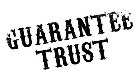 Guarantee Trust tampon en caoutchouc. conception grunge avec des rayures de poussière. Les effets peuvent être facilement enlevés pour un aspect propre et croustillant. La couleur est facilement changée.