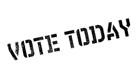 Vote Aujourd'hui tampon en caoutchouc. conception grunge avec des rayures de poussière. Les effets peuvent être facilement enlevés pour un aspect propre et croustillant. La couleur est facilement changée. Vecteurs