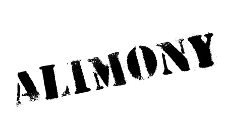 alimony: Alimony rubber stamp. Grunge design with dust scratches. Effects can be easily removed for a clean, crisp look. Color is easily changed. Illustration