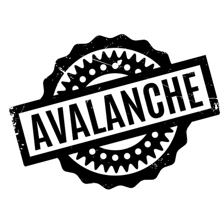 flooding: Avalanche rubber stamp. Grunge design with dust scratches. Effects can be easily removed for a clean, crisp look. Color is easily changed. Illustration