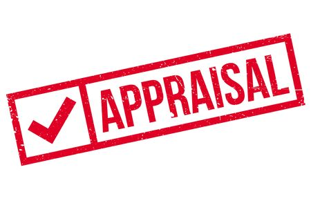 appraise: Appraisal rubber stamp. Grunge design with dust scratches. Effects can be easily removed for a clean, crisp look. Color is easily changed.