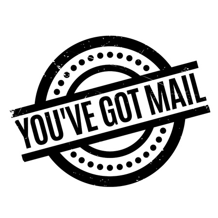 you've got mail: You have Got Mail rubber stamp. Grunge design with dust scratches. Effects can be easily removed for a clean, crisp look. Color is easily changed. Stock Photo