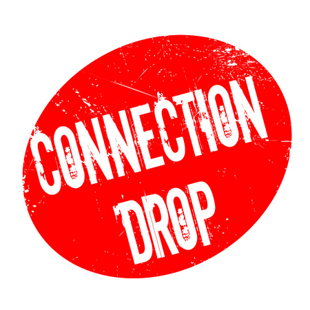 Connection Drop rubber stamp. Grunge design with dust scratches. Effects can be easily removed for a clean, crisp look. Color is easily changed.