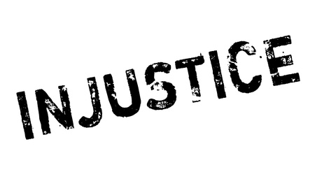 discriminate: Injustice rubber stamp. Grunge design with dust scratches. Effects can be easily removed for a clean, crisp look. Color is easily changed.