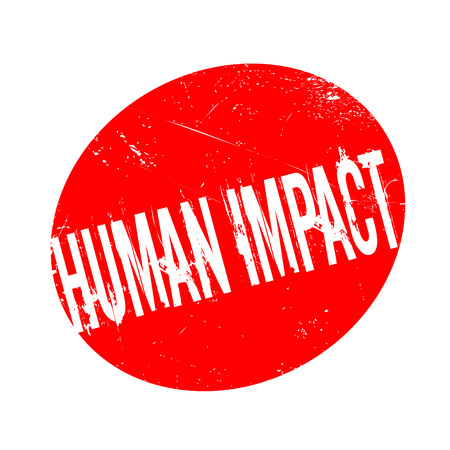 carbon footprint: Human Impact rubber stamp. Grunge design with dust scratches. Effects can be easily removed for a clean, crisp look. Color is easily changed.