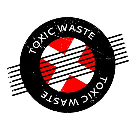 contaminacion del agua: Toxic Waste rubber stamp. Grunge design with dust scratches. Effects can be easily removed for a clean, crisp look. Color is easily changed.
