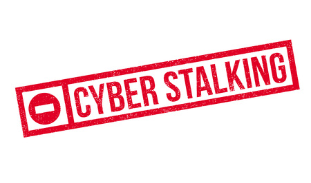 Cyber Stalking rubber stamp. Grunge design with dust scratches. Effects can be easily removed for a clean, crisp look. Color is easily changed. Illustration