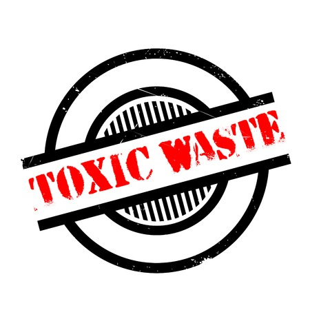 hazardous waste: Toxic Waste rubber stamp. Grunge design with dust scratches. Effects can be easily removed for a clean, crisp look. Color is easily changed.