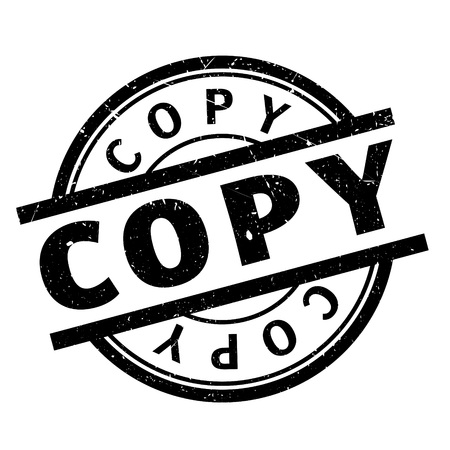 Copy rubber stamp. Grunge design with dust scratches. Effects can be easily removed for a clean, crisp look. Color is easily changed.