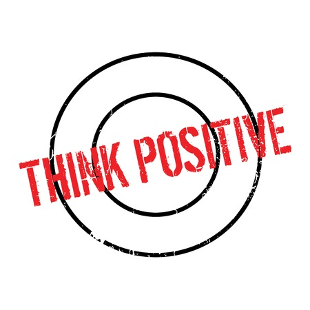 Think Positive rubber stamp. Grunge design with dust scratches. Effects can be easily removed for a clean, crisp look. Color is easily changed.