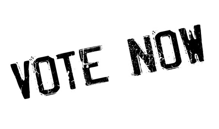 yea: Vote Now rubber stamp. Grunge design with dust scratches. Effects can be easily removed for a clean, crisp look. Color is easily changed. Illustration