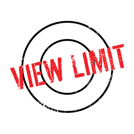 View Limit rubber stamp. Grunge design with dust scratches. Effects can be easily removed for a clean, crisp look. Color is easily changed.