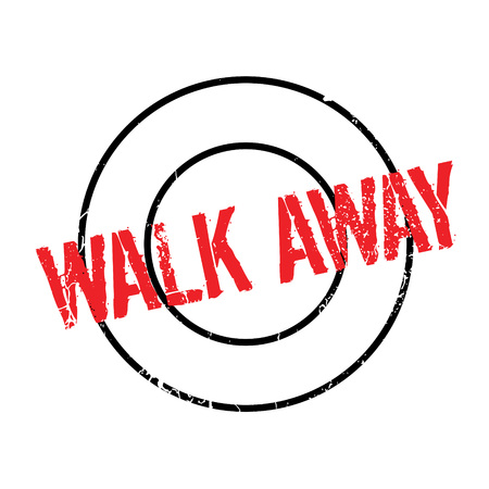 Walk Away rubber stamp. Grunge design with dust scratches. Effects can be easily removed for a clean, crisp look. Color is easily changed.