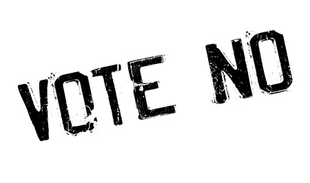 right choice: Vote No rubber stamp. Grunge design with dust scratches. Effects can be easily removed for a clean, crisp look. Color is easily changed. Illustration