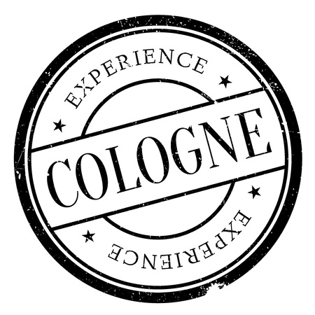 Cologne stamp. Grunge design with dust scratches. Effects can be easily removed for a clean, crisp look. Color is easily changed. Illustration