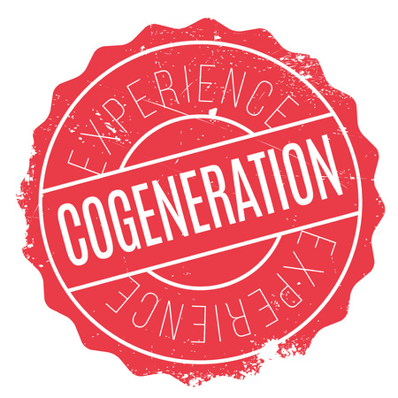 combined: Cogeneration stamp. Grunge design with dust scratches. Effects can be easily removed for a clean, crisp look. Color is easily changed. Illustration