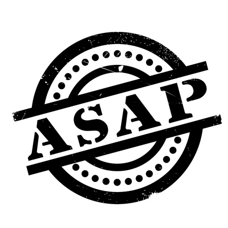 immediate: Asap rubber stamp. Grunge design with dust scratches. Effects can be easily removed for a clean, crisp look. Color is easily changed.