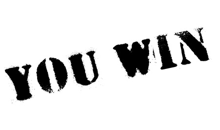accomplish: You Win rubber stamp. Grunge design with dust scratches. Effects can be easily removed for a clean, crisp look. Color is easily changed.