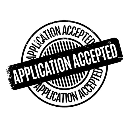 obtain: Application Accepted rubber stamp. Grunge design with dust scratches. Effects can be easily removed for a clean, crisp look. Color is easily changed.