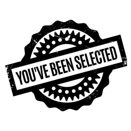 Has sido seleccionado sello de goma. Diseño de grunge con rasguños de polvo. Los efectos se pueden quitar fácilmente para un aspecto limpio y nítido. El color se cambia fácilmente.