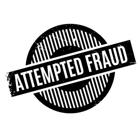 fraudster: Attempted Fraud rubber stamp. Grunge design with dust scratches. Effects can be easily removed for a clean, crisp look. Color is easily changed.