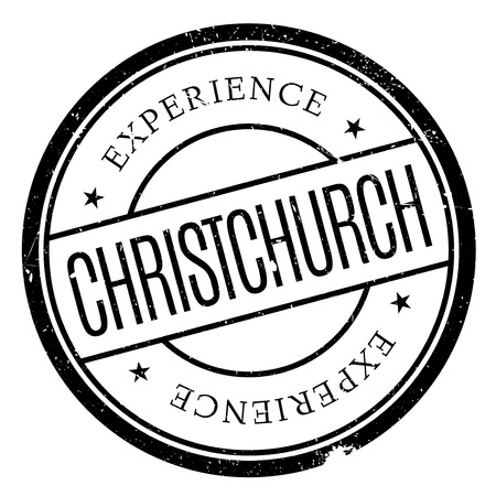 Christchurch stamp. Grunge design with dust scratches. Effects can be easily removed for a clean, crisp look. Color is easily changed.