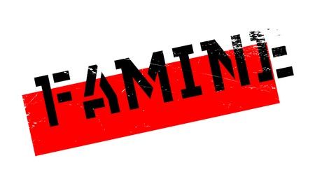 malnutrition: Famine rubber stamp. Grunge design with dust scratches. Effects can be easily removed for a clean, crisp look. Color is easily changed.