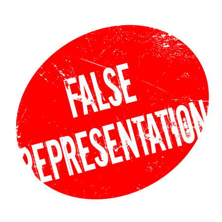 False Representation rubber stamp. Grunge design with dust scratches. Effects can be easily removed for a clean, crisp look. Color is easily changed. 版權商用圖片 - 74028248