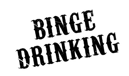 Binge Drinking rubber stamp. Grunge design with dust scratches. Effects can be easily removed for a clean, crisp look. Color is easily changed. Vektoros illusztráció