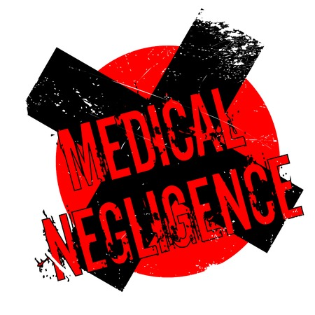 Medical Negligence rubber stamp. Grunge design with dust scratches. Effects can be easily removed for a clean, crisp look. Color is easily changed. Illustration