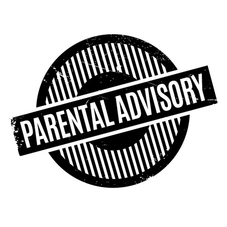 Parental Advisory rubber stamp. Grunge design with dust scratches. Effects can be easily removed for a clean, crisp look. Color is easily changed.