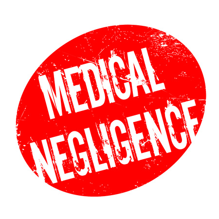 Medical Negligence rubber stamp. Grunge design with dust scratches. Effects can be easily removed for a clean, crisp look. Color is easily changed. Stock Photo