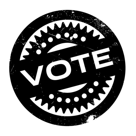 voted: Vote rubber stamp. Grunge design with dust scratches. Effects can be easily removed for a clean, crisp look. Color is easily changed.