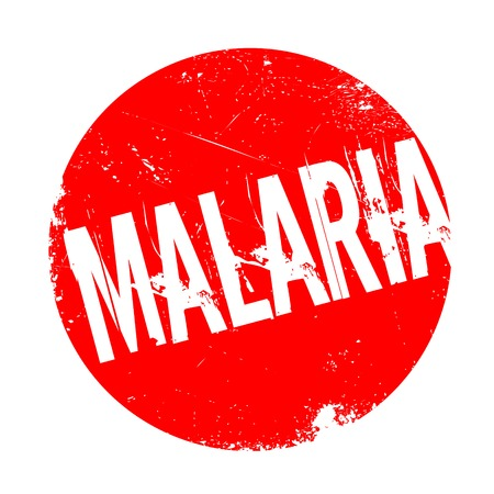 Malaria rubber stamp. Grunge design with dust scratches. Effects can be easily removed for a clean, crisp look. Color is easily changed. Stock Photo