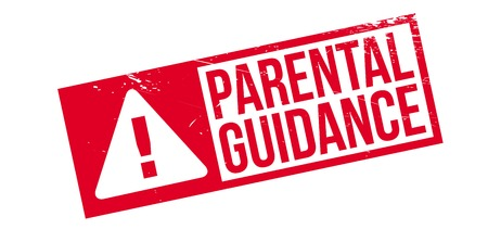 Parental Guidance rubber stamp. Grunge design with dust scratches. Effects can be easily removed for a clean, crisp look. Color is easily changed.