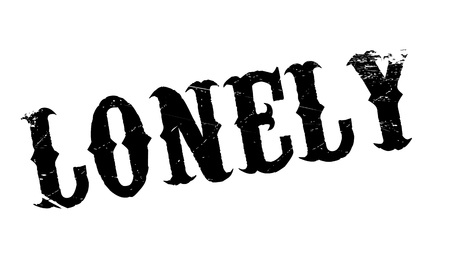lonesome: Lonely rubber stamp. Grunge design with dust scratches. Effects can be easily removed for a clean, crisp look. Color is easily changed. Illustration