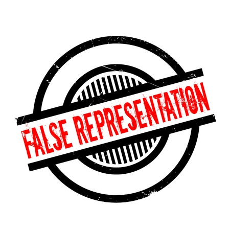 False Representation rubber stamp. Grunge design with dust scratches. Effects can be easily removed for a clean, crisp look. Color is easily changed. 版權商用圖片 - 74029223