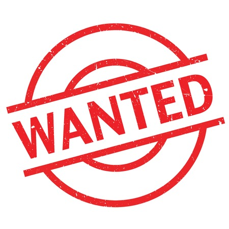 rubberstamp: Wanted rubber stamp. Grunge design with dust scratches. Effects can be easily removed for a clean, crisp look. Color is easily changed. Illustration