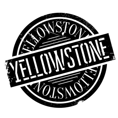 confluence: Yellowstone rubber stamp. Grunge design with dust scratches. Effects can be easily removed for a clean, crisp look. Color is easily changed. Illustration
