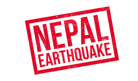 Nepal Earthquake rubber stamp. Grunge design with dust scratches. Effects can be easily removed for a clean, crisp look. Color is easily changed. Illustration